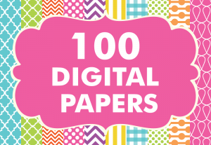 Digital Patterns 100 Basic Papers Set 1 Bundle