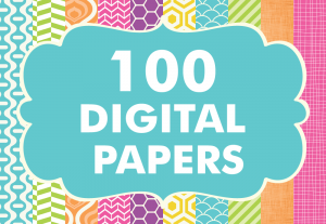Digital Patterns Pack 100 Basic Papers Set 2 Bundle