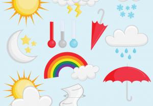 Vector Weather Elements Clip Art