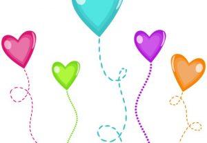 Candy Hearts Vector Clip Art Set