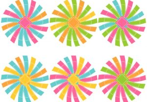 Crazy Blooms Abstract Flowers Bows Vector Clip Art Set