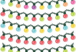 String Lights Christmas Light Vector Clip Art Set