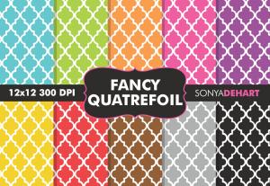 Fancy Quatrefoil Digital Patterns