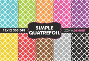 Simple Quatrefoil Patterns