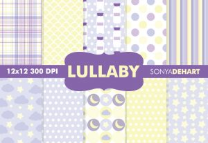 Lullaby Purple Baby Pattern Backgrounds