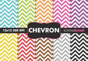 Chevron Digital Pattern Pack