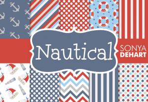Nautical Digital Pattern Pack