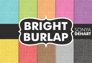 Bright Burlap Fabric Texture Pack