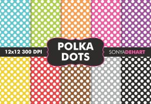 Polka Dot Digital Pattern Pack