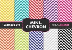 Mini Chevron Digital Pattern Pack