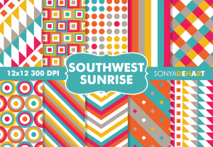 Southwest Sunrise Western Pattern Pack