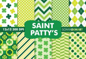 Saint Patrick's Day Digital Pattern Pack