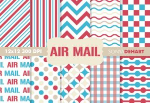 Air Mail Retro Postal Pattern Pack