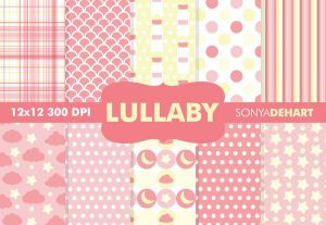 Lullaby Pink Baby Pattern Backgrounds