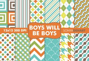 Boys Digital Pattern Pack