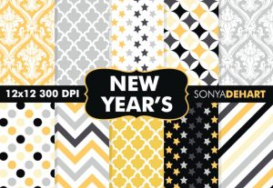 New Year's Eve Digital Pattern Pack