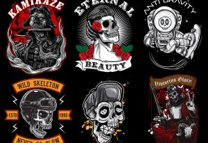 Custom Skull Illustration Designs