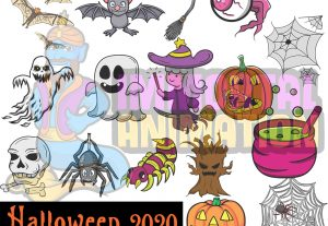 Halloween 2020 MBA Designs and KDP Coloring Book Art Lines