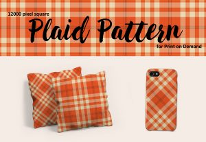 Fall Orange and Cream Plaid – Large Format for POD