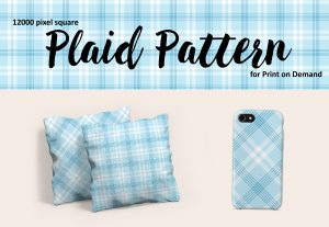 Baby Blue Plaid – Large Format for Print on Demand