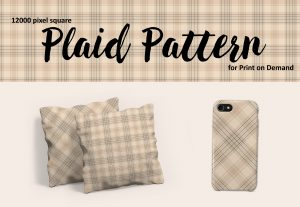 Neutral Beige Plaid – Large Format for Print on Demand