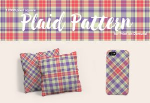 Exclusive Pink, Purple, and White Plaid Pattern