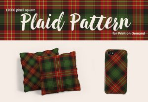 Exclusive Christmas Plaid Pattern in Red, Green and Black