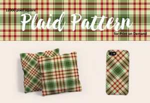 Exclusive Christmas Plaid in Red, Green, White and Gold