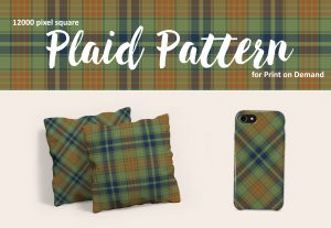 Exclusive Plaid Pattern in Green, Navy, and Orange