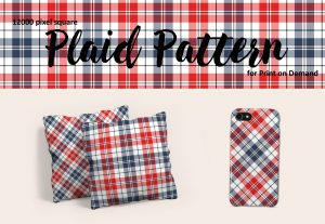 Exclusive Red, White, and Blue Plaid Pattern for POD