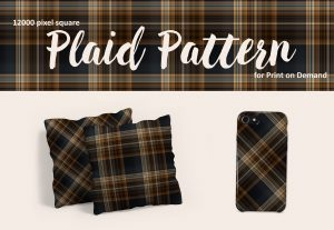Exclusive Dark Brown and Blue Plaid for POD