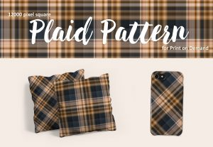 Exclusive Brown and Slate Blue Plaid for POD
