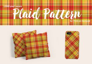 Exclusive Bright Red, Yellow, and Green Plaid for POD