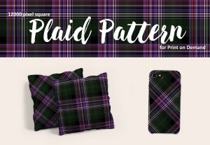 Exclusive Dark Green and Purple Plaid for POD