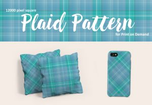 Exclusive Bright Blue Plaid for Print on Demand