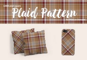 Large Format Brown Plaid for Print on Demand