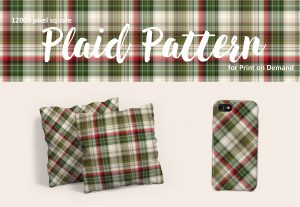 Red and Green Christmas Plaid – Large Format for POD