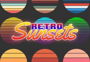 Retro Sunset Graphic Pack