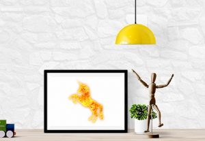 Reindeer Antler Animal fire flame Graphic Design